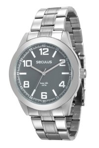 Relógio Seculus Masculino Analógico Prateado 28867GOSVNA1