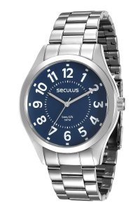 Relógio Seculus Masculino Analógico Prateado 28866GOSVNA1