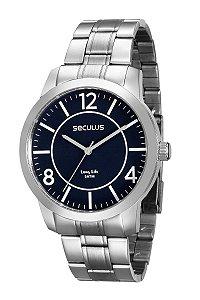 Relógio Seculus Masculino Analógico Prateado 28825GOSVNA1