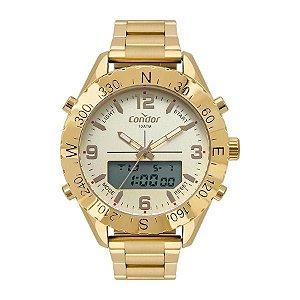 Relógio Anadigi Condor Masculino Dourado Cobj3689ab4x