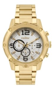 Relógio Condor Cronógrafo Masculino Dourado Cojp25ad4k