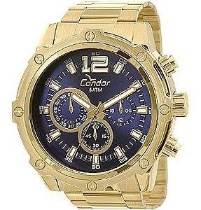 Relógio Condor Cronógrafo Masculino Dourado Covd54ae4a