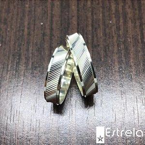PAR DE ALIANÇAS EM PRATA 950 Ref. 221010
