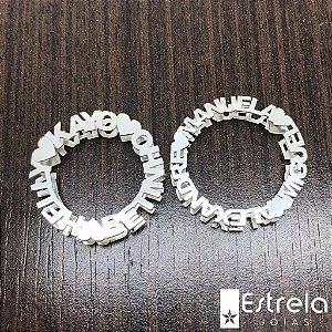 PINGENTE MANDALA COM NOME EM PRATA 950 ref. 112001