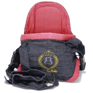 Canguru Cadeirinha Carregador Bebê Baby Bag 15kg Vermelho