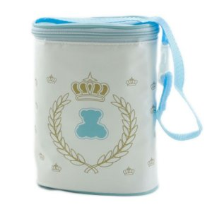 Porta Mamadeira Térmico Protetor Duplo Azul Menino