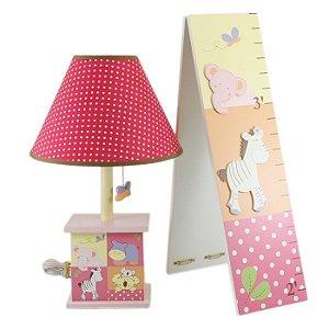 Abajur Iluminador Noturno Infantil 110v Com Gráfico De Crescimento