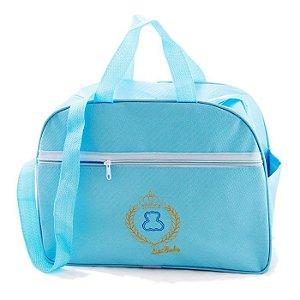 Bolsa Frasqueira Maternidade Mamãe e Bebê Média Azul Menino