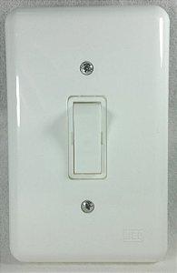 Interruptor Simples e Placa 4x2 Linha Klin