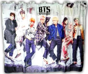 Cortina BTS  K-POP 2,0x1,5m