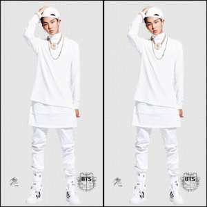 Capa de Dakimakura Médio Rap Monster Bts Bangtan Boys 6