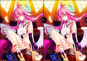 Capa de Travesseiro No Game No Life  Jibril