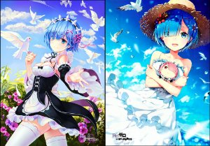 Capa de Travesseiro Re-Zero  Rem