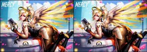 Capa de Travesseiro Overwatch Mercy