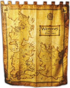 Bandeira Game of thrones - Mapa Westeros