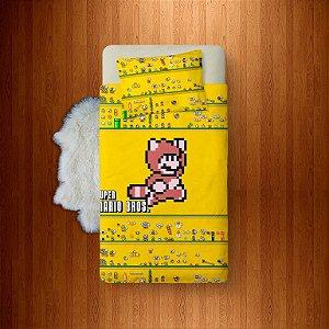 Lençol Solteiro Avulso Super Mario Bros 8 Bits