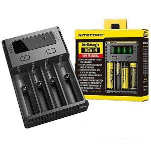 Carregador Baterias NITECORE New i4 para 4 Baterias
