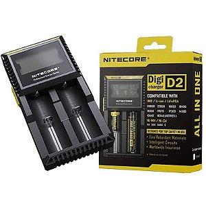 Carregador Baterias NITECORE DigiCharger D2 para 2 Baterias