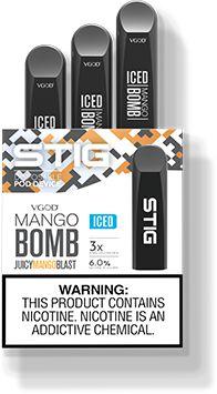 VGOD STIG Mango Bomb Iced (Descartável) - Pack com 3 Unidades