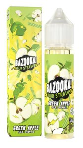 E-Liquido BAZOOKA! SOUR STRAWS Green Apple 60ML