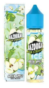E-Liquido BAZOOKA! SOUR STRAWS Green Apple Ice 60ML