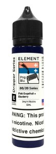 E-Liquido ELEMENT EMULSIONS Pink Grapefruit + Blueberry 60ML