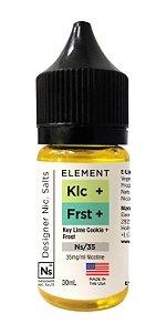 E-Liquido ELEMENT EMULSIONS Salt Key Lime Cookie + Frost 30ML