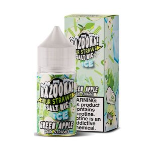 NicSalt BAZOOKA! SOUR STRAWS Green Apple Ice 30ML