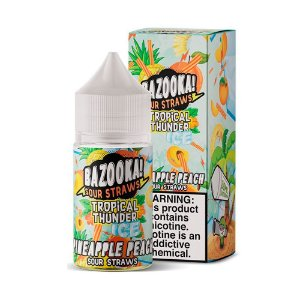 NicSalt BAZOOKA! SOUR STRAWS Pineapple Peach Ice 30ML