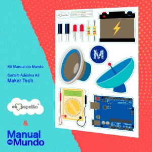 CARTELA ADESIVA A3 MANUAL DO MUNDO - CASA - MAKER TECH