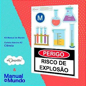 CARTELA ADESIVA A3 MANUAL DO MUNDO - CASA - CIÊNCIA