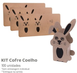 Kit Cofre Coelho - 100 unidades