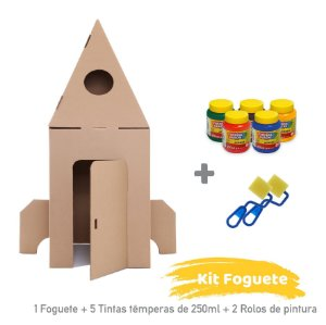 Kit Foguete para Colorir