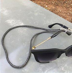 Cordinha para óculos náutica preta