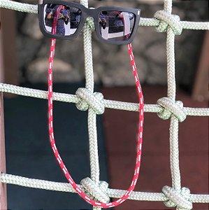 Cordinha náutica vermelha para óculos