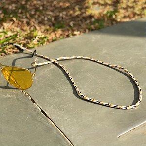Cordinha náutica branca com amarelo para óculos