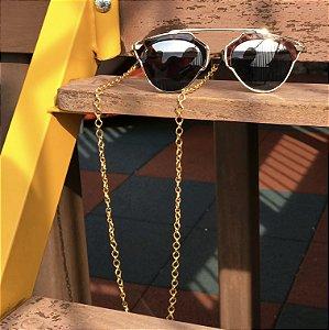Cordinha corrente dourada para óculos