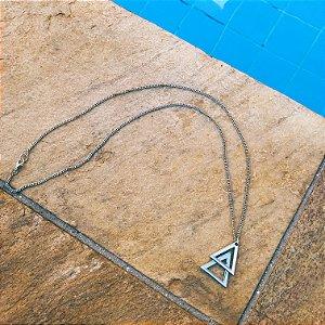 Colar masculino duplo triângulo