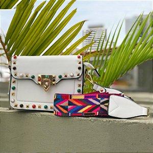 Bag branca detalhes coloridos