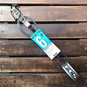 Leash FCS 6' Competição 5.5mm - Preto