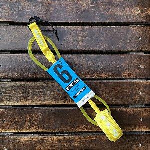 Leash FCS 6' Competição 5.5mm - Amarelo