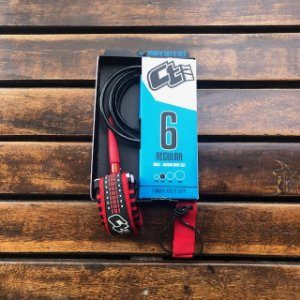 LEASH CT 6' REGULAR ULTRACORD - PRETO/VERMELHO