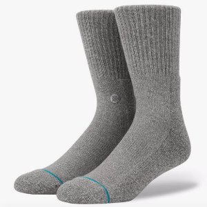 Meia Stance Icon Grey Heather