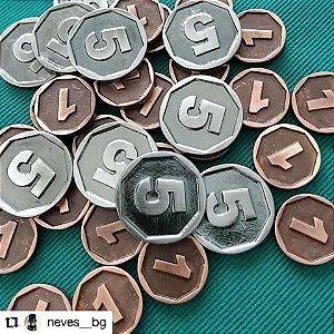 Kit de moedas genéricas