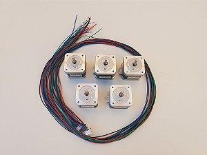 Kit C/ 5 Motores Nema 17 5klgf - Impressora 3D - Tec3D