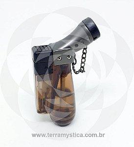 ISQUEIRO MAÇARICO HONEST - REF. 185 1 CHAMA :: Marrom