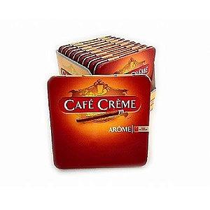 CIGARRILHA CAFE CREME AROME - Estojo Metal 10un