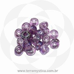 Miçanga Roxo-Transparente - Pct 40g/400 contas