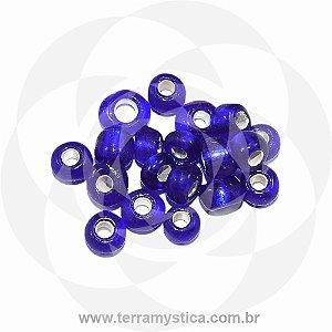 Miçanga Azul-Royal Transparente - Pct 40g/400 contas