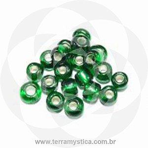 Miçanga Verde-Transparente - Pct 40g/400 contas